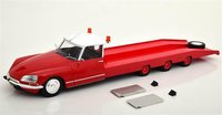 1970 Citroen DS Tissier Car Carrying Truck Red in 1:18 Scale by CMR