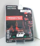 Terminator 2 Judgement Day 1987 Caprice Police car (green wheels) in 1:64 scale by Greenlight