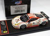 """FERRARI 458 ITALIA GT2-AM #83 """"JMB RACING"""" RODRIGUES - ILLIANO - FERTE LTD. 100pcs by BBR in 1:43"""