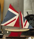 Union Jack Pond Yacht Model Sailboat by Authentic Models