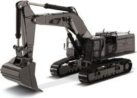 Cat® 390F L Hydraulic Excavator Gunmetal Finish in 1:50 scale by Diecast Masters