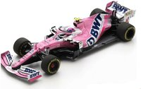 BWT RACING POINT RP20 NO.18 BWT RACING POINT F1 TEAM 3RD ITALIAN GP 2020 LANCE STROLL in 1:43 scale by Spark