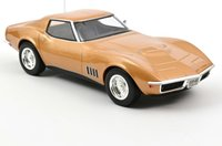 Chevrolet Corvette Coupe 1969 Gold Metallic in 1:18 scale by Norev