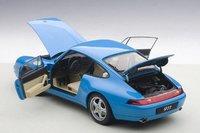 1995 Porsche 993 Carrera in Riviera Blue Metallic Model Car in 1:18 Scale by AUTOart