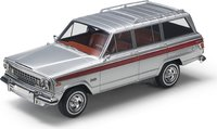 1963 Jeep Wagoneer Silver in 1:18 scale by LS Collectibles
