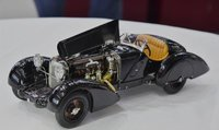 1932 Mercedes-Benz SSK Trossi The Black Prince Memorial Edition in 1:18 Scale by CMC