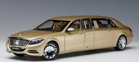 Mercedes - Maybach S 600 Pullman in Gold by AUTOart in 1:18 Scale