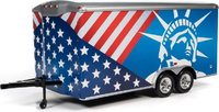 Enclosed Trailer Patriotic in 1:18 scale by Auto World