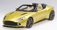 Aston Martin Vanquish Zagato Speedster Cosmopolitan Yellow in 1:18 Scale by Topspeed