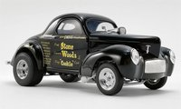 1941 Gasser - Stone Woods & Cook - Black Diecast Model by Acme in 1:18 Scale