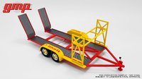 Tandem Car Trailer Shell Oil in 1:18 Scale by GMP