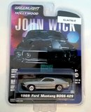 1969 Ford Mustang Boss 429 John Wick in 1:64 Scale by Greenlight