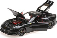 Ferrari F12 TdF Diecast Model Car in Gloss Black 1:18 Scale by BBR