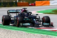 Mercedes F1 W12 1st 2021 Spanish Grand Prix in 1:18 scale by Minichamps