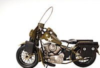 1942 Yellow Motorcycle 1:12 Scale by Old Modern Handicrafts