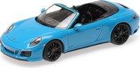 2017 Porsche 911 Carrera 4GTS Cabriolet in miami blue 1:43 scale by Minichamps