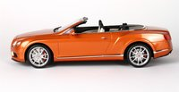 Bentley Continental GT V8 S Convertible Sunrise Orange in 1:18 Scale by BBR