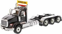 International HX620 Day Cab Tridem Tractor Black in 1:50 scale by Diecast Masters