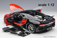 2017 Bugatti Chiron Italian Red/Nocturne Black in 1:12 Scale by AUTOart