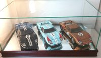 1966 Lemans 1st, 2nd and 3rd place GT40's in 1:18 scale with Case