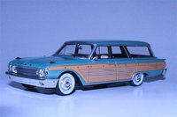 1961 Ford Country Squire Resin Model in Metallic Green 1:43 Scale by Goldvarg Collection