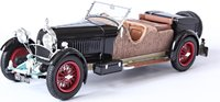 "1929 Bugatti T46S Torpedo Wicker ""The Farbie"" Model Car in 1:43 Scale by Ilario"