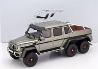 2015 Mercedes-Benz G63 6x6 in Pearl Silver Resin Model Car in 1:18 Scale by GT Spirit