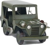 1940 Willys Quad Overland Jeep Model Car Metal by Old Modern Handicrafts