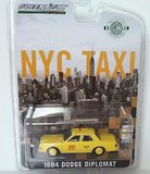 1984 a dodge a diplomat  NYC TAXI in 1:64 scale by Greenlight
