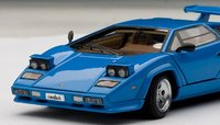 Lamborghini Countach 5000 S in Blue with openings Diecast Model Car in 1:43 Scale by AUTOart