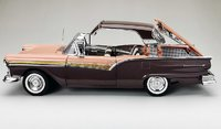 1957 FORD FAIRLANE 500 SKYLINER SILVER MOCHA CORAL SAND in 1:18 scale by Sun Star