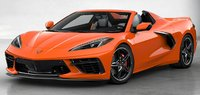 2020 Corvette Stingray Convertible C8 Orange in 1:18 Scale by GT Spirit