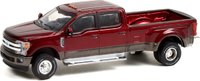 2019 Ford F-350 Dually in Sedona Orange in 1:64 scale by Greenlight