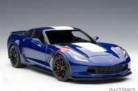 2017 Corvette C7 Grand Sport in Blue Model in 1:18 Scale by AUTOart