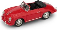 1952 Porsche 356 Cabriolet red in 1:43 scale by BRUMM