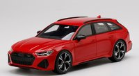 Audi RS 6 Avant Carbon Black Tango Red in 1:18 scale by Topspeed