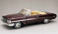 1964 Ford Galaxie 500 XL Convertible Vintage Burgundy in 1:18 scale by Sun Star