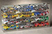12 Scale Car Display Case - Slant Shelves - Wall Mountable