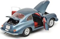 Porsche 356 A in Blue Metallic Diecast Model Car in 1:18 Scale by Schuco