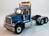 International HX520 Tandem Tractor in Blue by Diecast Masters in 1:50 Scale