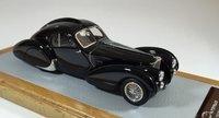 1936 Bugatti 57S Atlantic sn57473 Seydoux Restoration in Black Resin Model Car in 1:43 Scale by Ilario
