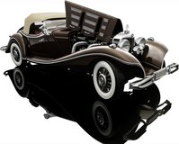 1934 Mercedes-Benz 500K Spezial Roadster Diecast Model Car in 1:12 Scale by Bauer