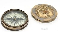 Makers to the Queen Compass with Leather Case by Old Modern Handicrafts