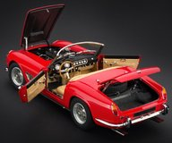 1961 Ferrari 250 GT SWB, California Spider in Red Diecast Model Car by CMC in 1:18 Scale PRESS SAMPLE