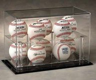 Desk Baseball Display Case: Double Tiered