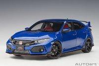 Honda Civic Type (FK8) Sporty Blue Metallic in 1:18 Scale by AUTOart