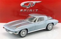 1963 Chevrolet Corvette Silver Blue Metallic in 1:12 Scale by GT Spirit