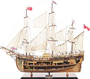 HMS Endeavour Open Hull in 1:8 Scale by Old Modern Handicrafts