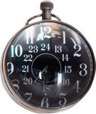 Eye of Time Clock, Silver by Authentic Models