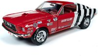 1968 Ford Mustang Cobra Jet Super Stock - Sandy Elliot Diecast Model in 1:18 Scale by Auto World